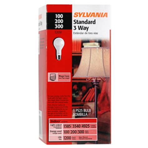 100 200 300 light bulb 12 sylvania mogul base 3 way 100 200 300 watt