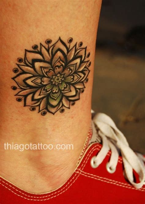 Lotus With Latina Accents Tattoos Art Of Life | lotus with latina accents tattoos art of life