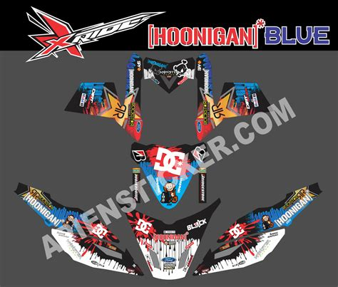 Sticker Striping Motor Stiker Honda Vario Fi 217 Biru Spec A striping motor xride hoonigan blue apien sticker