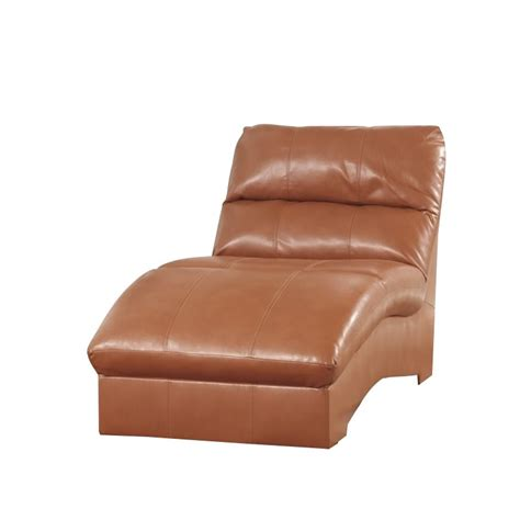 ashley leather chaise ashley paulie leather chaise lounge in orange 2700215