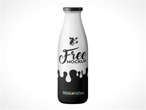 Milk Bottle milk bottle with twist cap psd mockup psd mockups