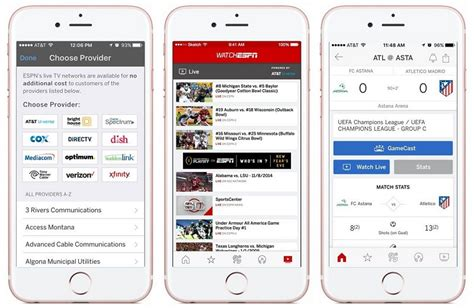 App Ios Espn Brings Watchespn Live Coverage Into Ios