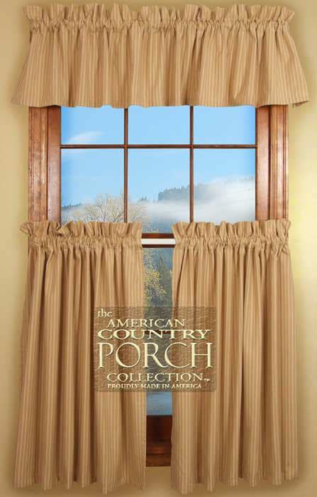 cottage country curtains cottage wheat stripe curtain valances