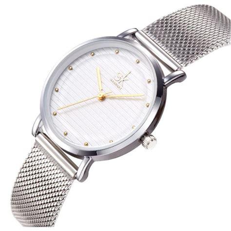 Jam Tangan Quartz Wanita shengke jam tangan wanita quartz fashion k0049 golden