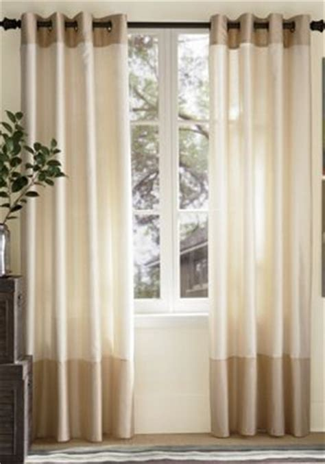two tone curtains window treatments mercer two tone grommet top panels from ginny s