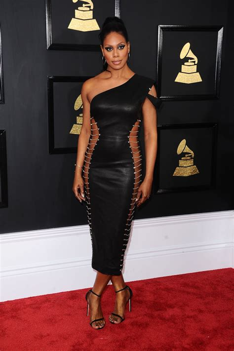 Grammy Awards by Laverne Cox On Carpet Grammy Awards In Los Angeles 2