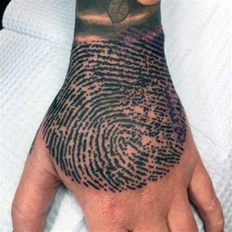 fingerprint tattoo ideas top 40 best fingerprint tattoos for masculine designs