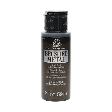 acrylic paint metal shop plaid folkart 174 brushed metal acrylic paint black