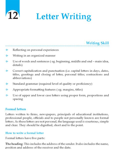 Grade 7 Letter Writing Composition Writing Skill Grade 9 Letter Writing Composition Writing Skill