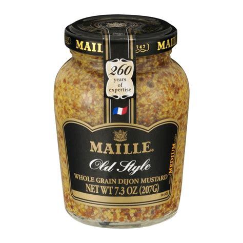 whole grain mustard maille style whole grain dijon mustard from h e b