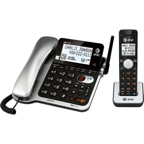 Att Phone Lookup At T 210m Corded Trimline Phone With Lighted Keypad Black Walmart