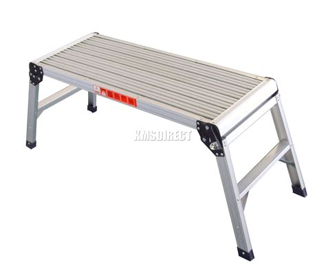 foldable work bench foxhunter 150kg aluminium folding step hop up work