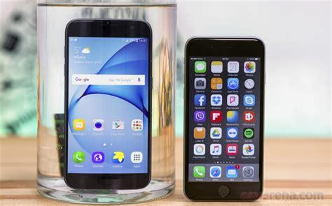 samsung galaxy s7 vs apple iphone 6s gsmarena tests