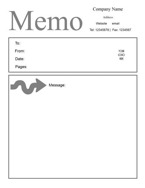 doc 494640 formal memorandum template free memorandum