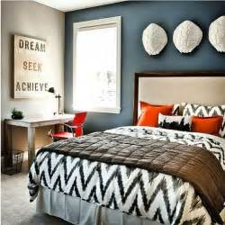 Slate Blue Area Rug Black And White Bedding Blue Accent Wall Bedroom