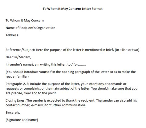 business letter heading to whom it may concern to whom it may concern letter format writing