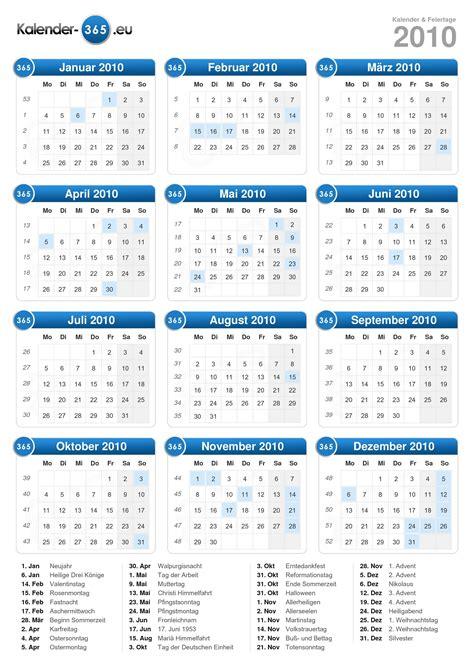 Kalender 201 Mit Feiertagen Kalender 2010