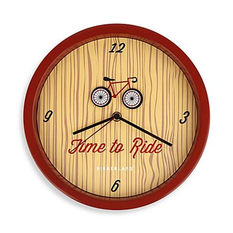 bed bath beyond clocks buy kikkerland 174 bicycle wall clock from bed bath beyond