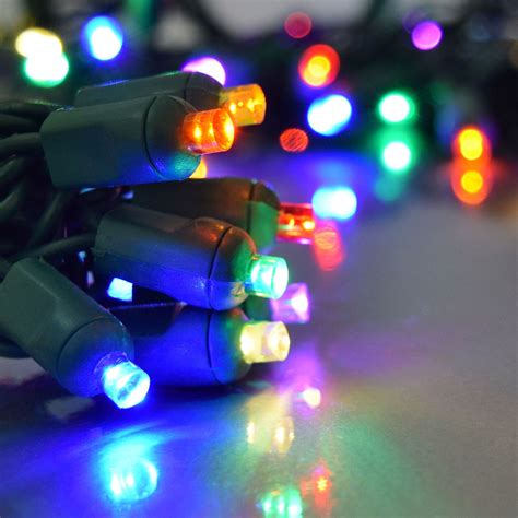 Multi Color Led Party String Light 50 Lights Multi Coloured Led Lights