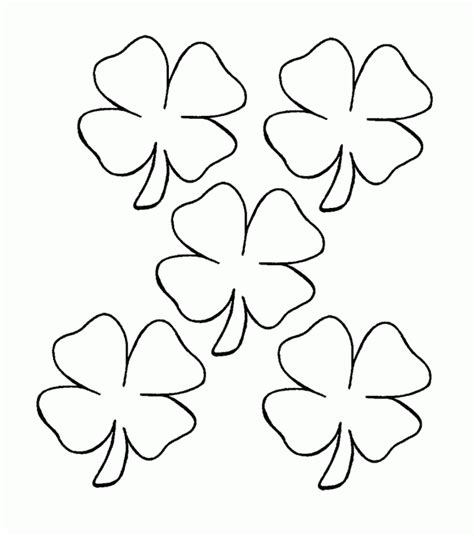 4 Leaf Clover Coloring Page Coloring Home Four Leaf Clover Color Page