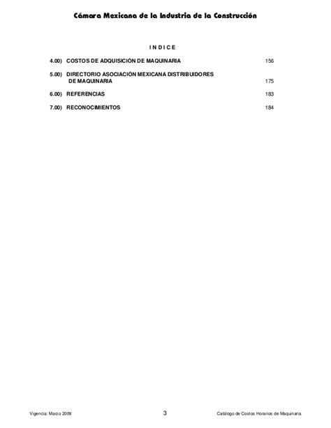 catalogo de costos horarios maquinaria cmic 2014 en catalogo de costos horarios de maquinaria tattoo design bild