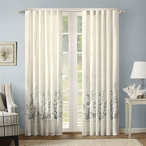 Harbor House Coastline Embroidery Window Curtain Panels In