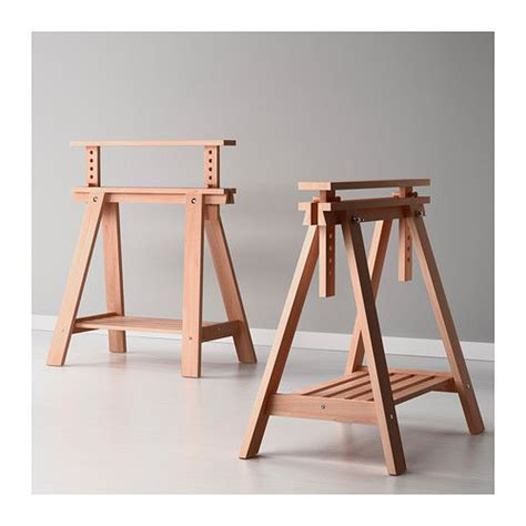 diy table with sawhorse legs adjustable wood sawhorse 1