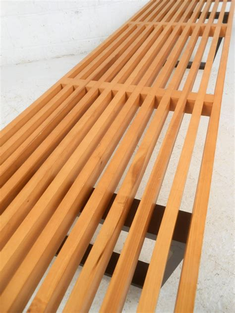 nelson style bench george nelson style slat bench at 1stdibs