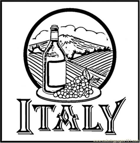 italy with kids coloring pages