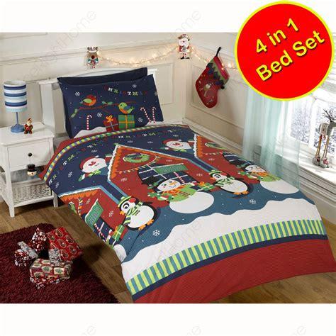 snowman comforter christmas duvet cover sets various styles snowman santa