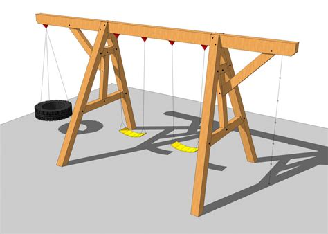 swing set plans timber frame swing set plan timber frame hq