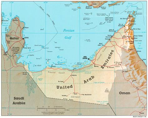 map of the united arab emirates vereinigte arabische emirate kartenrand