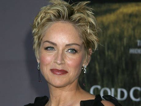 how to style sharon stones short hair style sharon stone short hairstyles