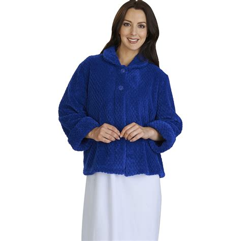 ladies bed jackets womens luxury waffle fleece bed jacket slenderella button