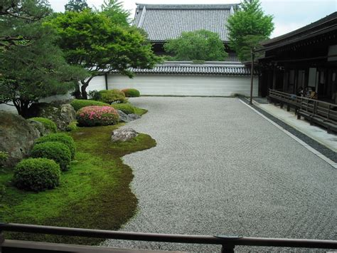 Diy Japanese Rock Garden Colorful Flower Tree Near Big Tree Side Simple Fence Fit To Diy Zen Garden With Green Grass