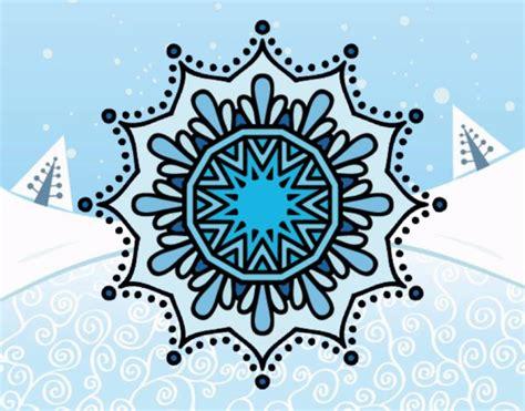 fiore neve disegno mandala fiore de neve colorato da utente non
