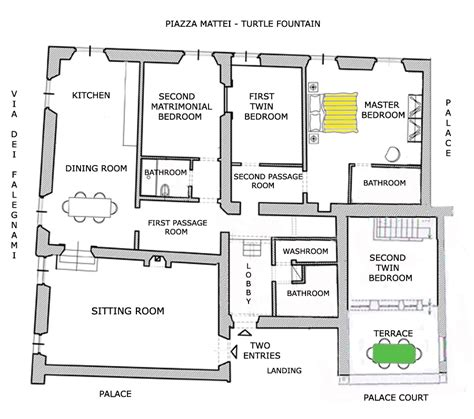 map and floor plan of the navona co de fiori turtles