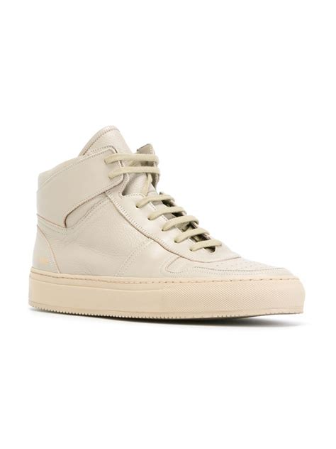 by common projects sneakers common projects hi top sneakers in gray for grey lyst