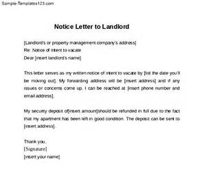 Rental 30 Day Notice Template by Exle Of Letter To Landlord 30 Day Notice Cover Letter