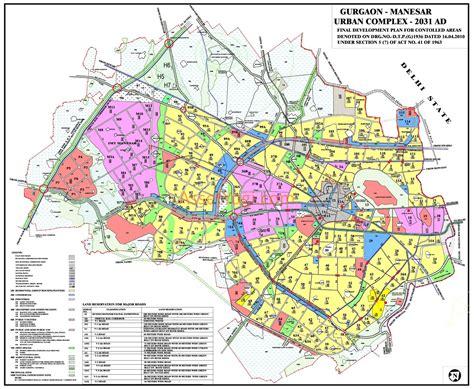 hmda layout download gurgaon master plan 2031 2025 2021 map summary
