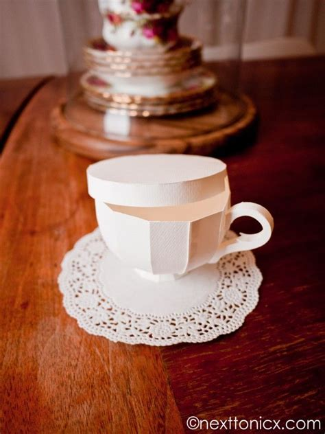 How To Make Paper Tea Cups - 25 best ideas about paper tea cups on 3d