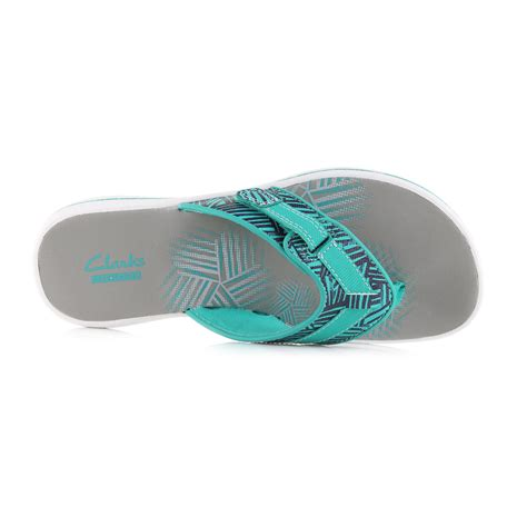 womens turquoise sandals womens clarks brinkley quade turquoise sandals flip flops