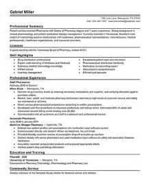 Geriatric Pharmacist Sle Resume by Pharmacist Resume Sle Getessay Biz