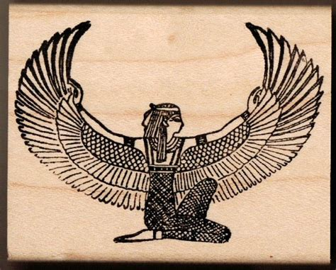 isis egyptian goddess tattoo winged what is seen cannot be unseen