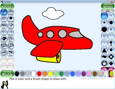 tux paint screenshot and at snapfiles