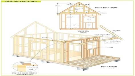 cabin blueprints free wood cabin plans free cabin floor plans free bunkie plans