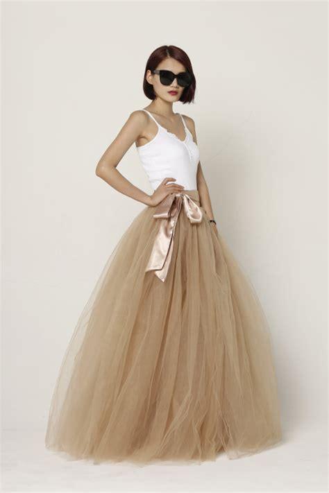 Floor Length Tulle Skirt by Tulle Skirt Floor Length Tutu Skirt Fixed Waist By