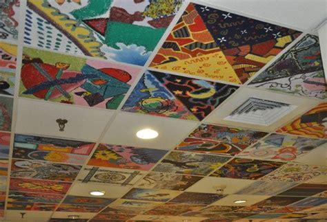 idea for tile art working drop ceiling ceiling tile art idea ceilings pinterest