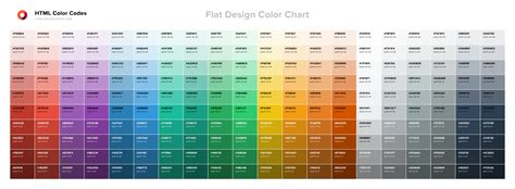 color chart html color codes