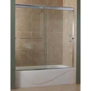 foremost marina 60 in x 60 in semi framed sliding tub